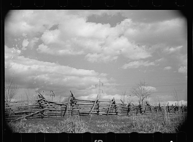 Rail fence on road to Chattanooga, Tennesse