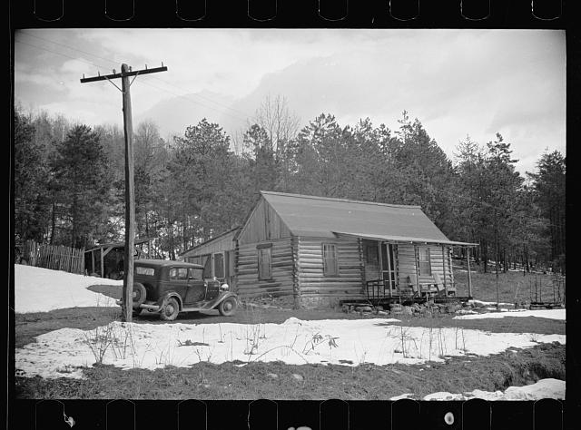 [Untitled photo, possibly related to: Mountain farmhouse in Appalachian Mountains]