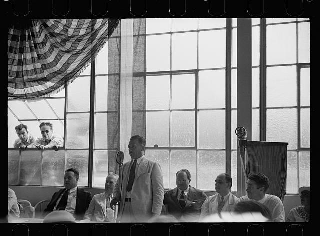 [Untitled photo, possibly related to: Opening of garment factory, Hightstown, N.J.]