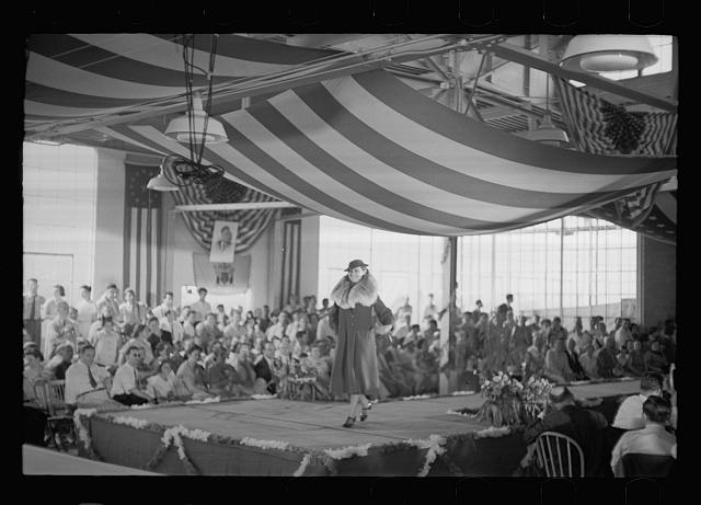 [Untitled photo, possibly related to: Style show of the opening of garment factory, Hightstown, New Jersey]