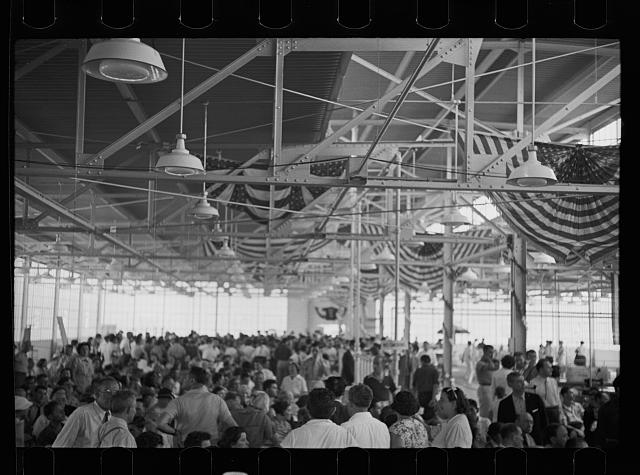 [Untitled photo, possibly related to: Opening of garment factory, Hightstown, New Jersey]
