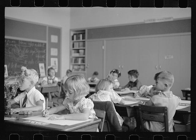 [Untitled photo, possibly related to: Schoolroom at Greenhills, Ohio]