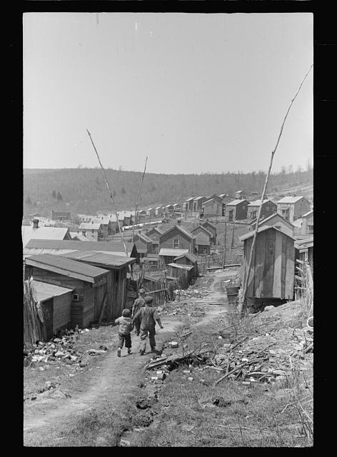 Crowded housing in company-owned coal town, Kempton, West Virginia