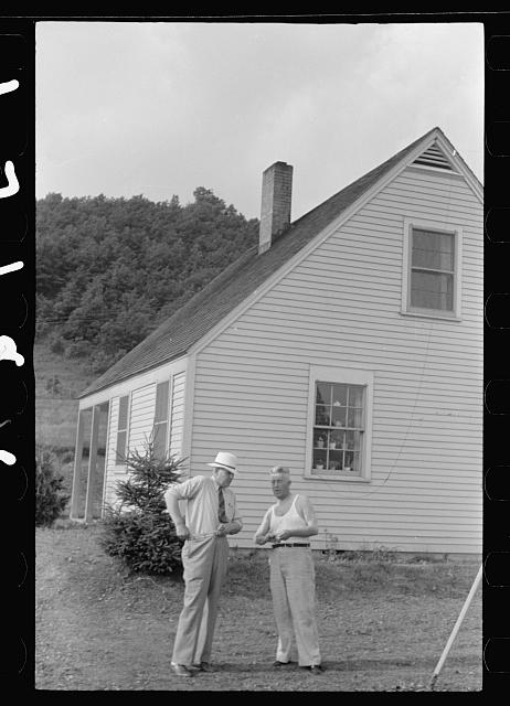 [Untitled photo, possibly related to: Croquet game, Tygart Valley Homesteads, West Virginia]