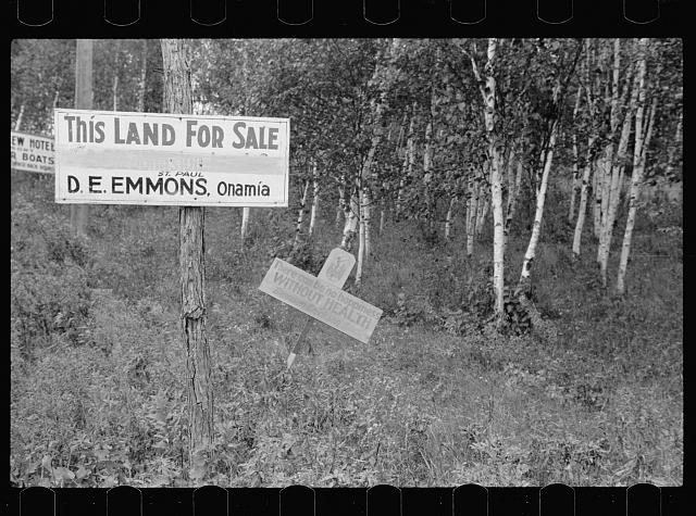 [Untitled photo, possibly related to: Land for sale, Aitkin County, Minnesota]