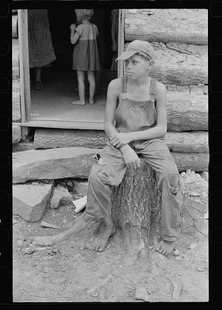 Son of rehabilitation client, Ozark Mountains, Arkansas