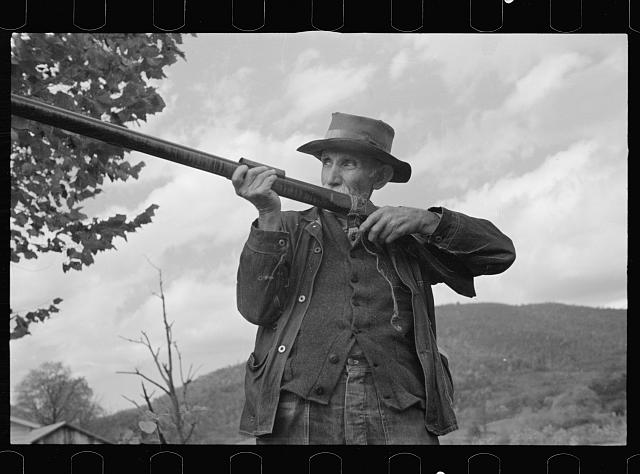 [Untitled photo, possibly related to: One of the oldest inhabitants in the village of Nethers, Shenandoah National Park, Virginia]