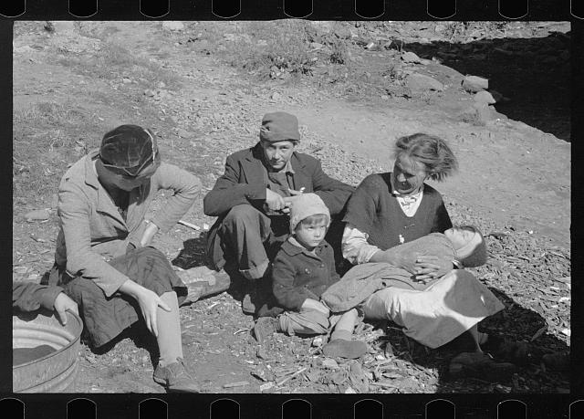 [Untitled photo, possibly related to: Dicee Corbin with some of her children and grandchildren, Shenandoah National Park, Virginia]