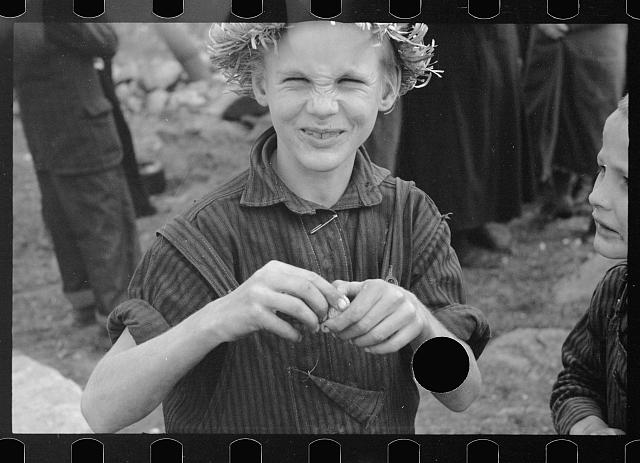 [Untitled photo, possibly related to: Corbin Hollow boy, Shenandoah National Park, Virginia]