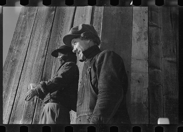 [Untitled photo, possibly related to: Rehabilitation client and wife, Coos County, New Hampshire]
