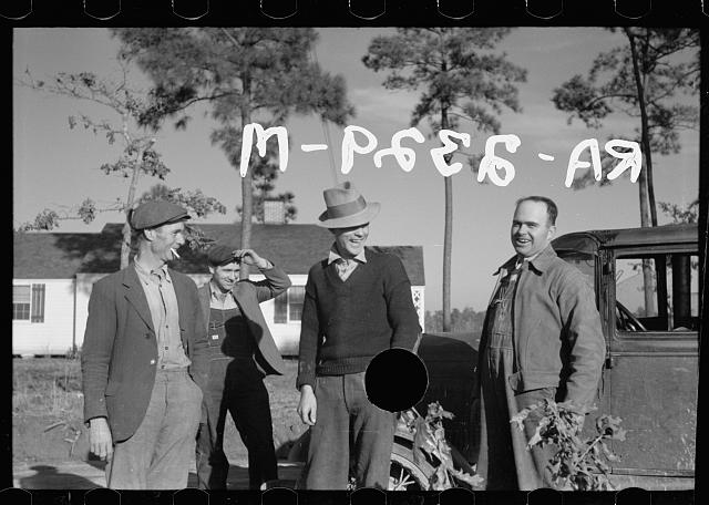 [Untitled photo, possibly related to: Group of homesteaders, Penderlea Farms, North Carolina]