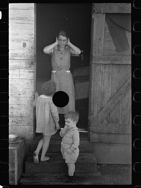[Untitled photo, possibly related to: Part of migrant agricultural worker's family near Belle Glade, Florida]