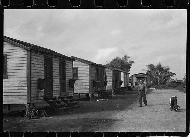 [Untitled photo, possibly related to: In a tourist camp for migratory agricultural workers near Belle Glade, Florida]