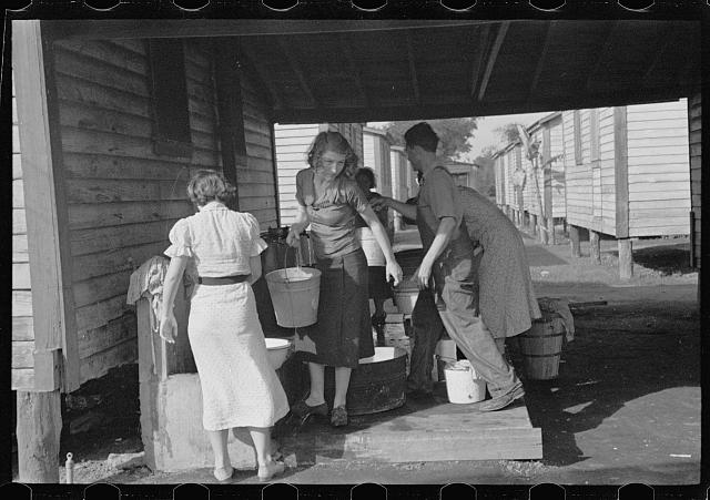 Source of water supply in the camp for migratory workers at Belle Glade, Florida