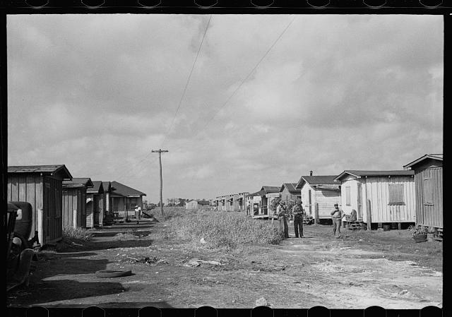 Housing in the Negro section of Belle Glade, Florida