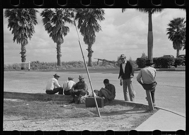 Negro beanpickers hitchhiking near Belle Glade, Florida