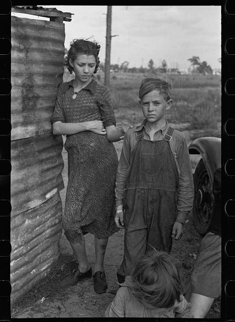 Part of the family of a migrant fruit worker from Tennessee, camped near the packinghouse in Winter Haven, Florida
