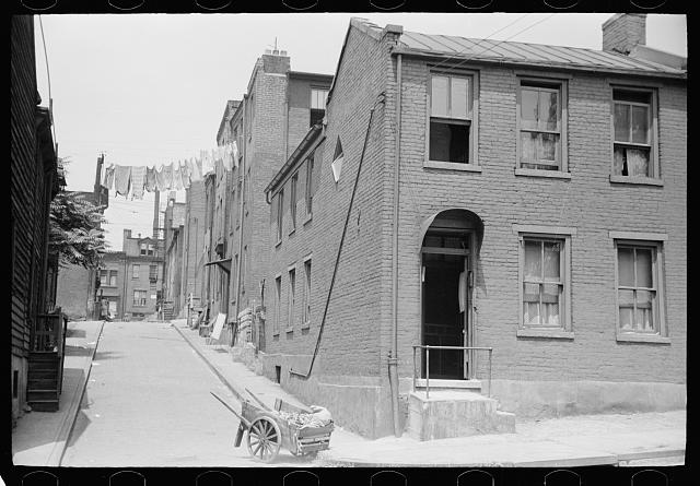 "Houses on ""The Hill"" slum section of Pittsburgh, Pennsylvania"
