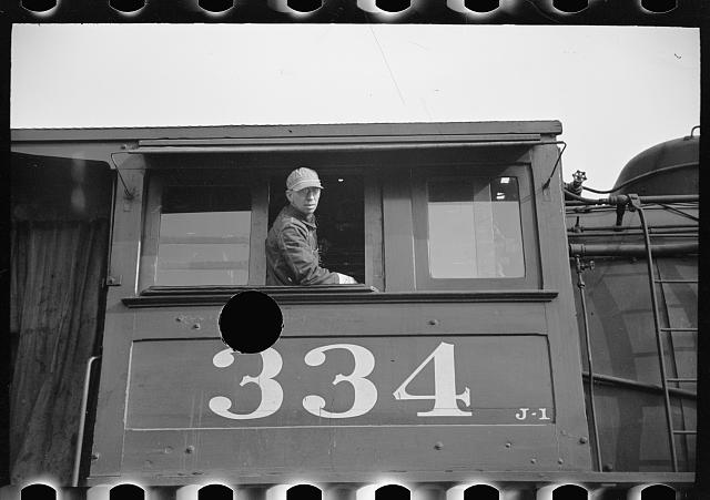 [Untitled photo, possibly related to: Locomotive engineer, Saint Louis, Missouri]
