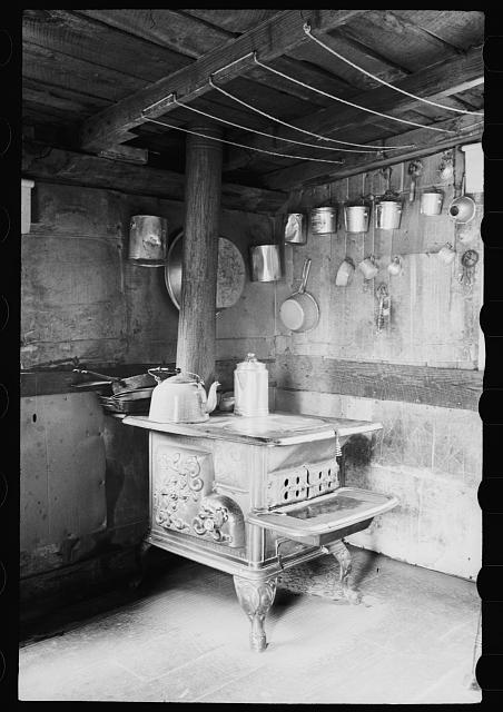 Garrett County, Maryland. Interior of a house