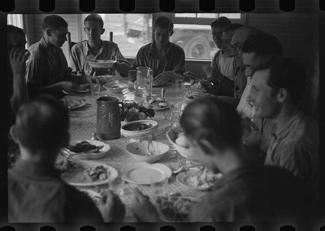 Farmers at lunch, Brookeville, Maryland