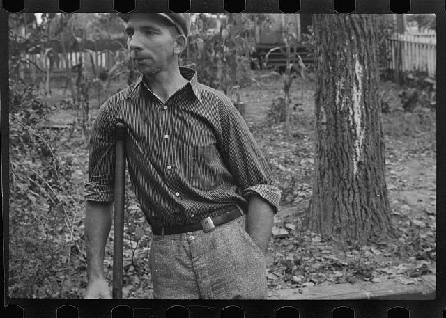 [Untitled photo, possibly related to: Crippled miner, Westmoreland, County, Pennsylvania]