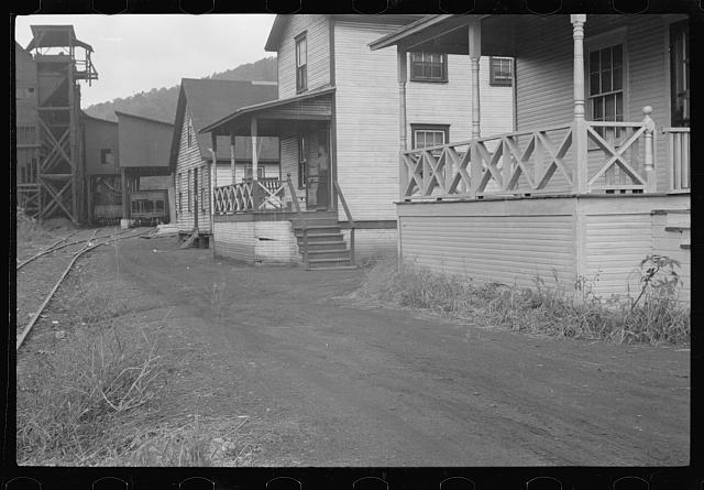 [Untitled photo, possibly related to: House stained by coal dust, Pursglove Mine, Scotts Run, West Virginia]