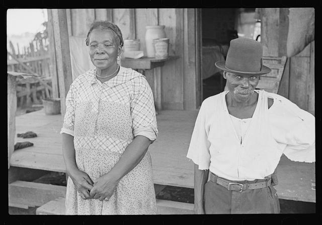 Negro sharecropper and his wife, Pulaski County, Arkansas
