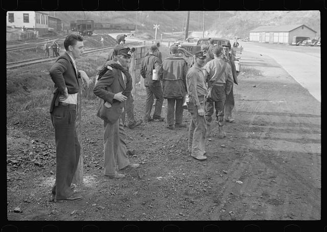 Group of coal miners, Jenkins, Kentucky