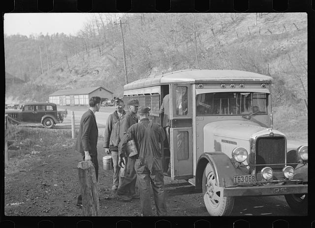 Coal miners going to the pit, Jenkins, Kentucky