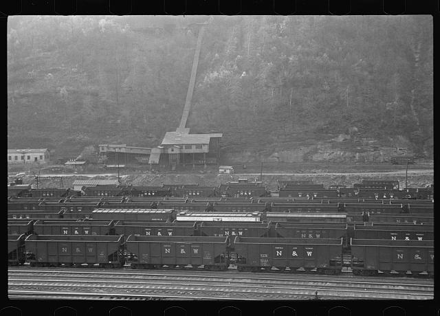 Railroad yard at Williamson, West Virginia
