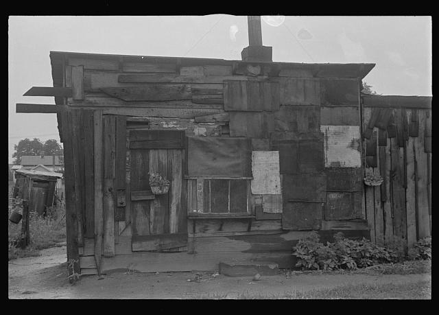 "[Untitled photo, possibly related to: Dwellers in Circleville's ""Hooverville,"" central Ohio (see general caption)]"
