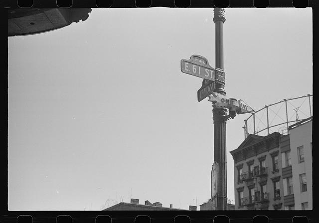 New York, New York. 61st Street between 1st and 3rd Avenues. Street sign