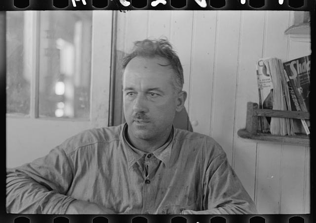 [Untitled photo, possibly related to: Chief engineer of the El Rito, a native of the lower Mississippi River, Louisiana]