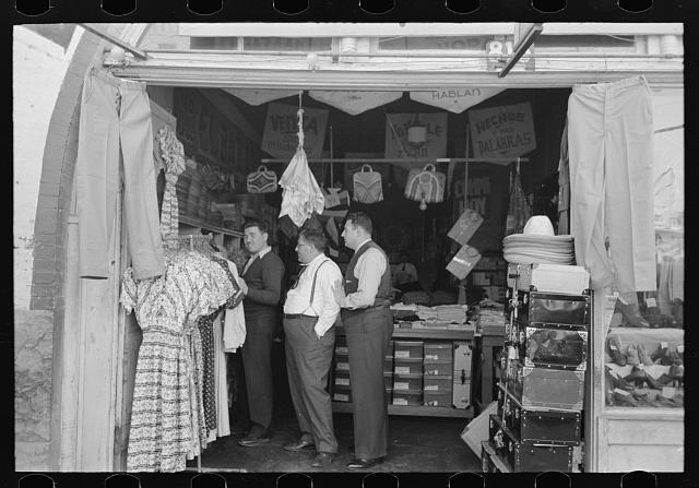 Proprietors of general store, Mexican district, San Antonio, Texas