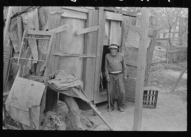 [Untitled photo, possibly related to: Old Mexican living alone, sick and unable to work, San Antonio, Texas]