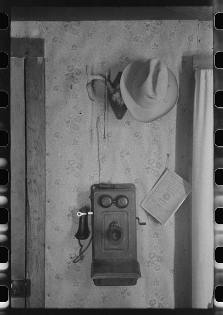 Detail of interior of home of rehabilitation borrower in Kimble County, Texas