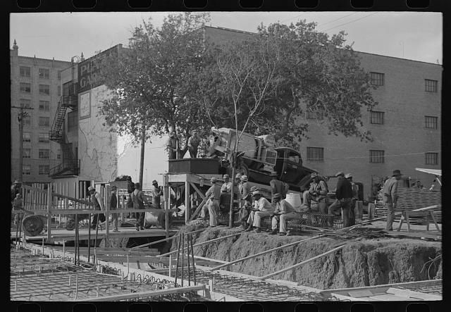 Construction work on buildings, Corpus Christi, Texas