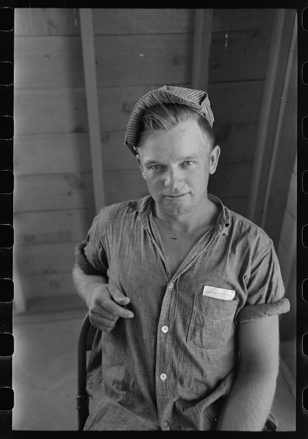Migratory worker at Agua Fria Migratory Labor Camp, Arizona