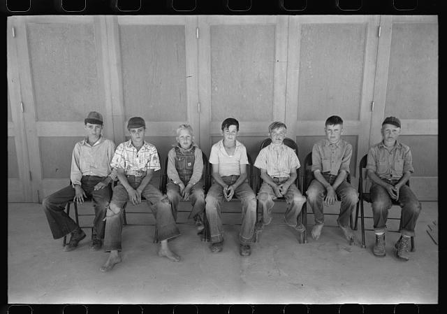 Baseball is popular at the migratory labor camp at Agua Fria, Arizona. These boys are on one of the teams