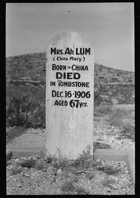 Tombstone in Boot Hill Cemetery, Tombstone, Arizona