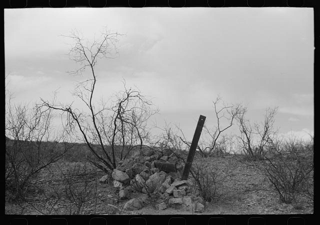 [Untitled photo, possibly related to: Miner's monument, Cochise County, Arizona]
