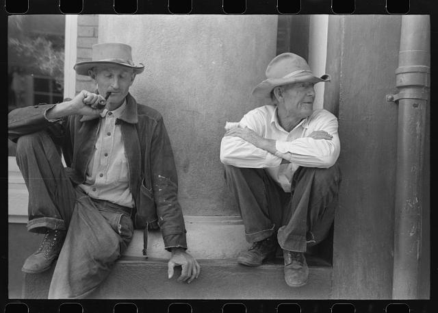 [Untitled photo, possibly related to: Men on the street of Silver City, New Mexico]