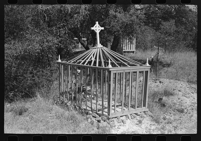 Grave in the cemetery at Santa Rita, New Mexico. Santa Rita is a copper mining town, inhabitants mostly Mexican