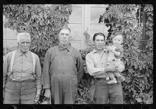 [Untitled photo, possibly related to: Family group of Spanish-Americans, Chamisal, New Mexico]