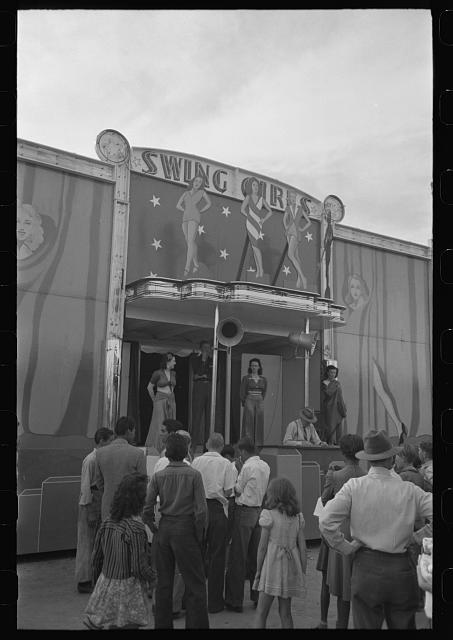 [Untitled photo, possibly related to: On the midway at the Imperial County Fair, California]