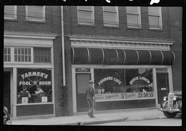 [Untitled photo, possibly related to: A cafe near the tobacco market, Durham, North Carolina]