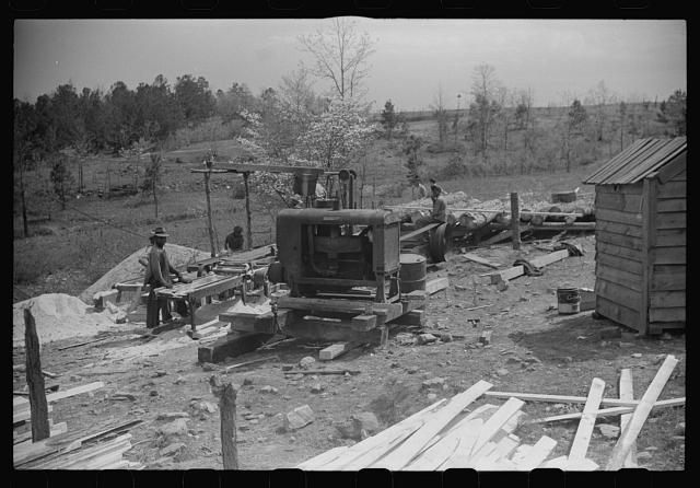 A sawmill in Heard County, Georgia