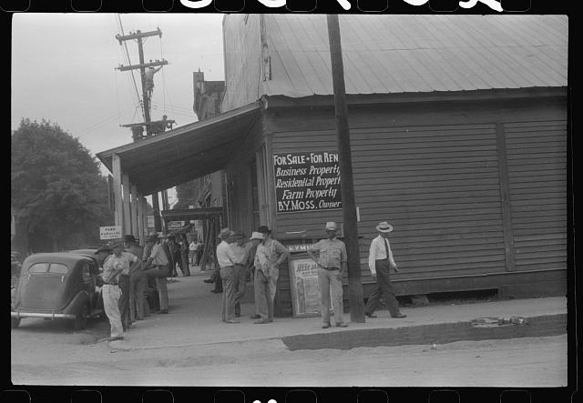 [Untitled photo, possibly related to: Along the main street of Childersburg, Alabama]