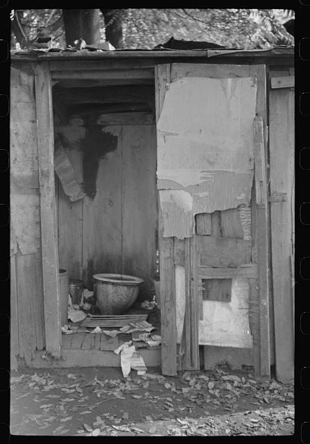 "Privy in Negro section ""Paradise Alley."" Only one for sixty people. Charleston, West Virginia"